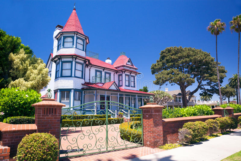 Galanteryjny dziejowy dom - Coronado, San Diego usa zdjęcie royalty free