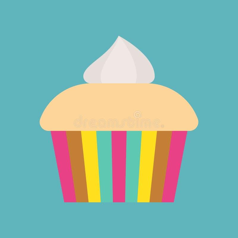 Galanteryjny filiżanka tort, cukierki i ciasto set, płaska projekt ikona ilustracja wektor