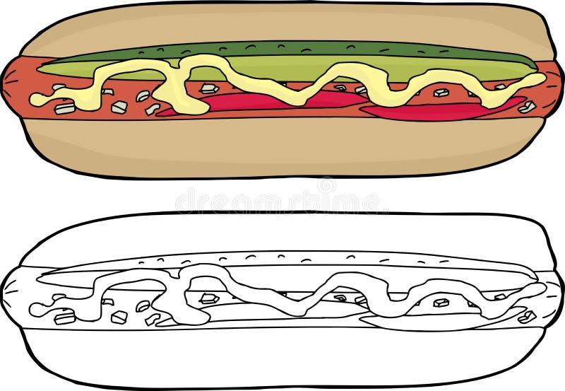 Galanteryjny hot dog ilustracja wektor