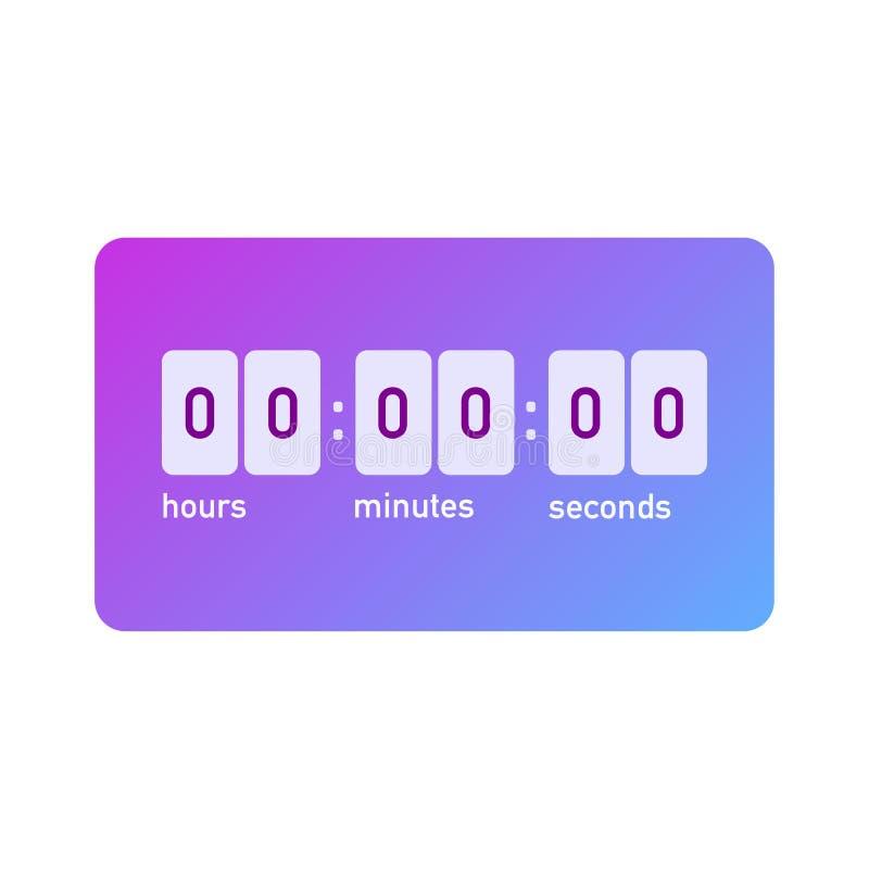 Galanteryjny obliczenie puszka zegar z instagram gradientem royalty ilustracja