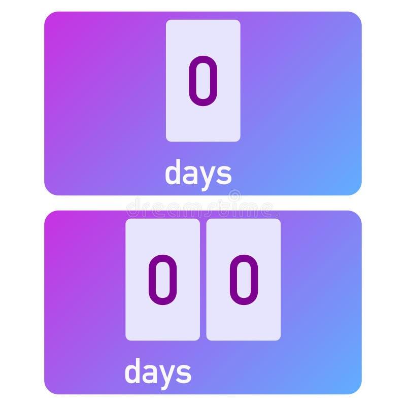 Galanteryjny obliczenie puszka zegar z instagram gradientem ilustracji