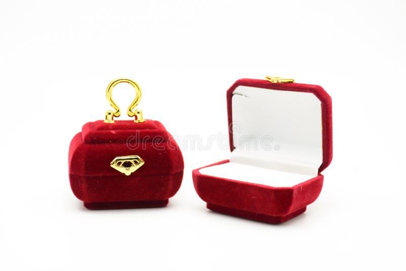 Galanteryjny pierścionku pudełko fotografia stock