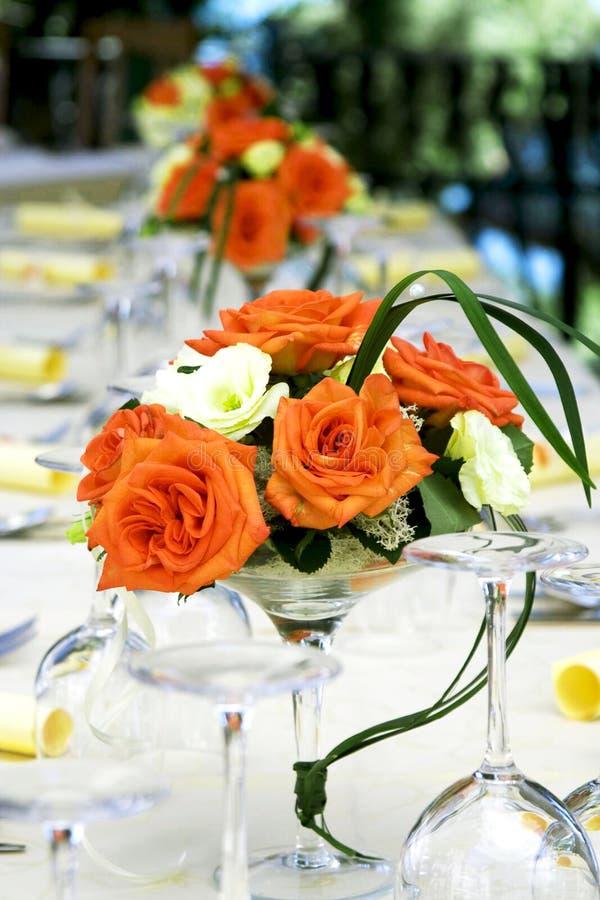 galanteryjny setu stołu ślub zdjęcie royalty free