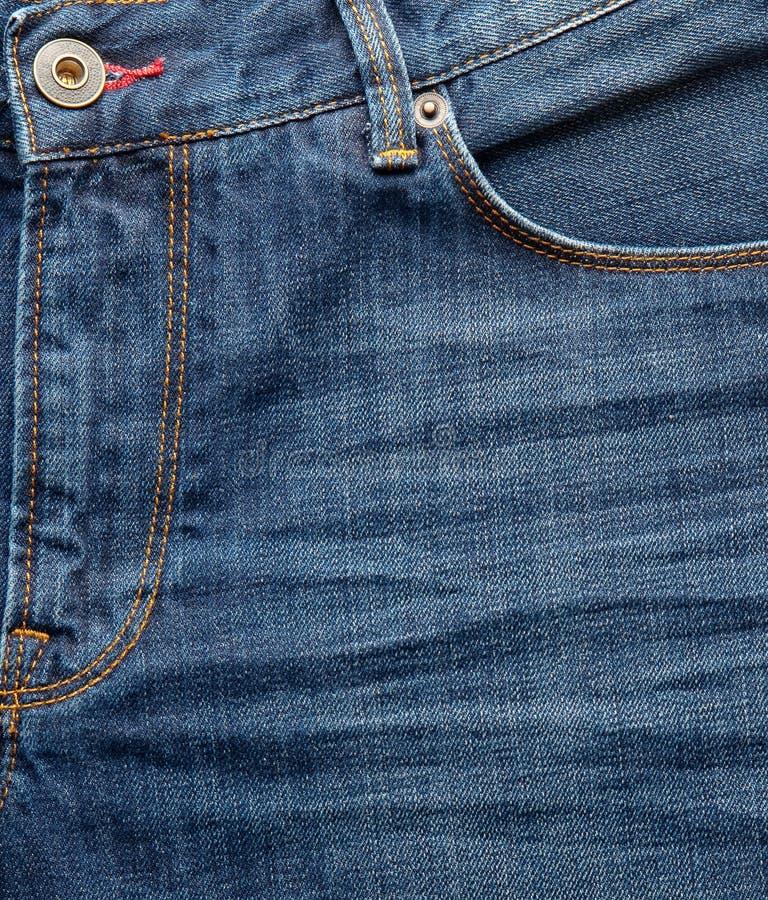 Galanteryjnych niebieskich dżinsów zamknięty up zdjęcie royalty free