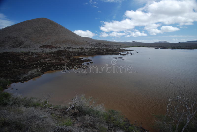 Galapago vulkanischer See stockfotos