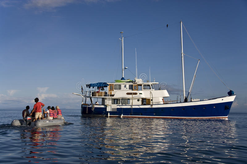 Galapagos Islands - Tourist boat royalty free stock photography
