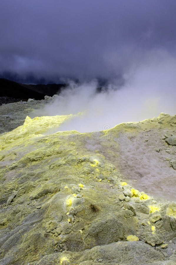 Download Galapagos Sulfur Volcano stock photo. Image of disaster - 18407396