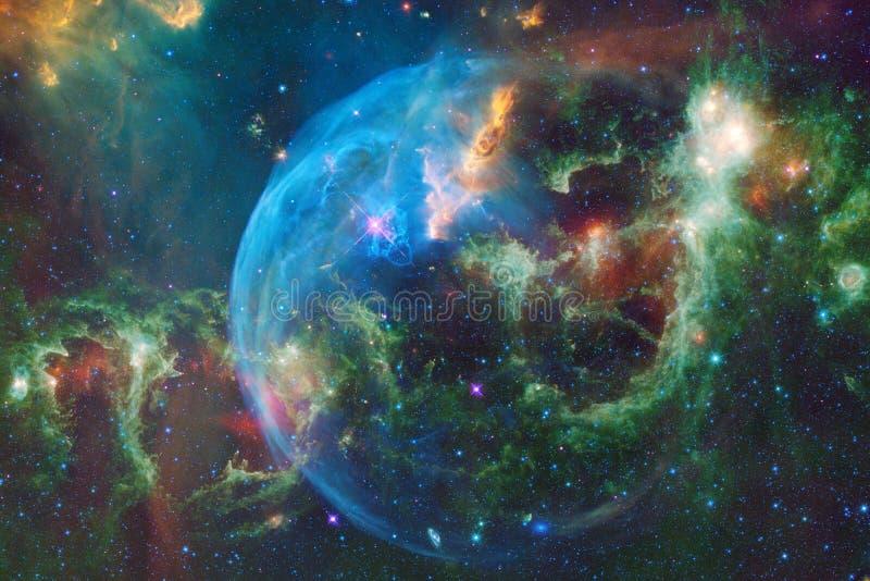 Galassia d'ardore, carta da parati impressionante della fantascienza illustrazione di stock