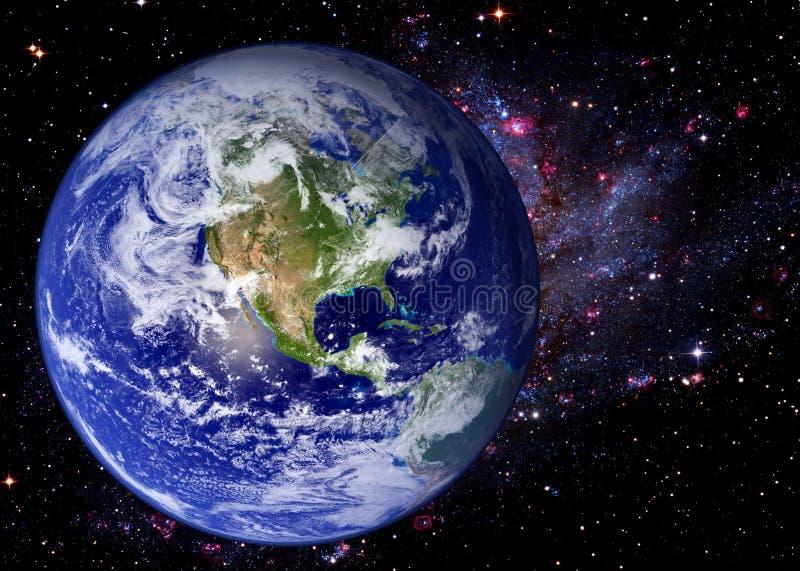 Galassia dell'universo dello spazio della terra fotografia stock libera da diritti