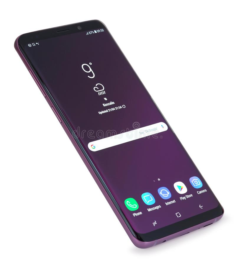 Galassia 9 di Samsung più fotografie stock libere da diritti