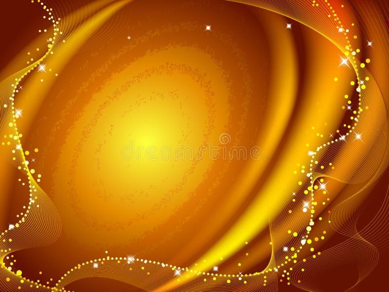 Galassia dorata illustrazione di stock