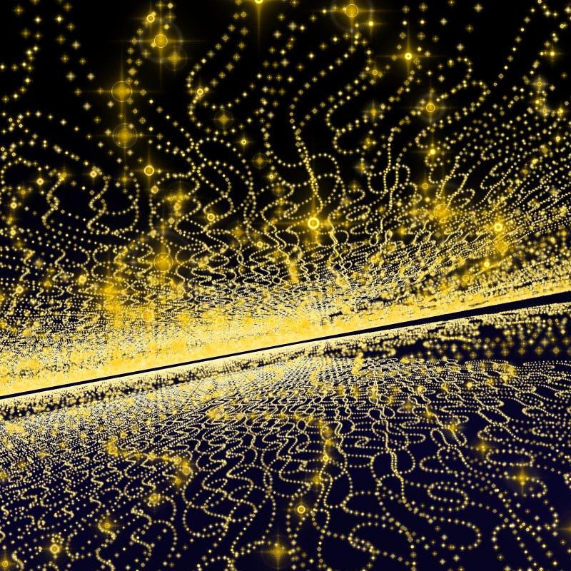 Galassia gialla della priorità bassa royalty illustrazione gratis