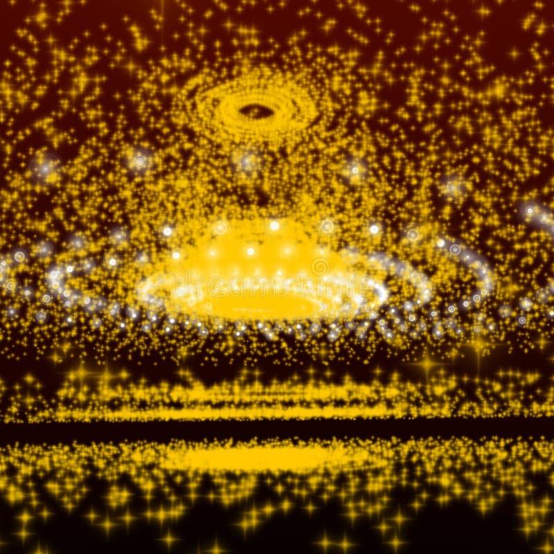 Galassia gialla della sfera royalty illustrazione gratis