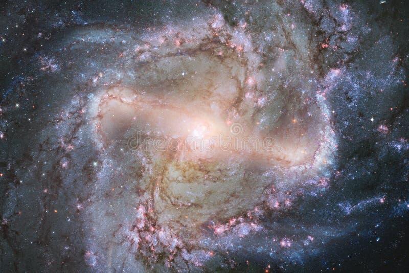 Galassia impressionante nello spazio cosmico Starfields di universo senza fine fotografie stock