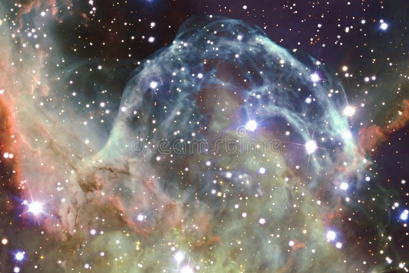 Galassia impressionante nello spazio cosmico Starfields di universo senza fine fotografia stock