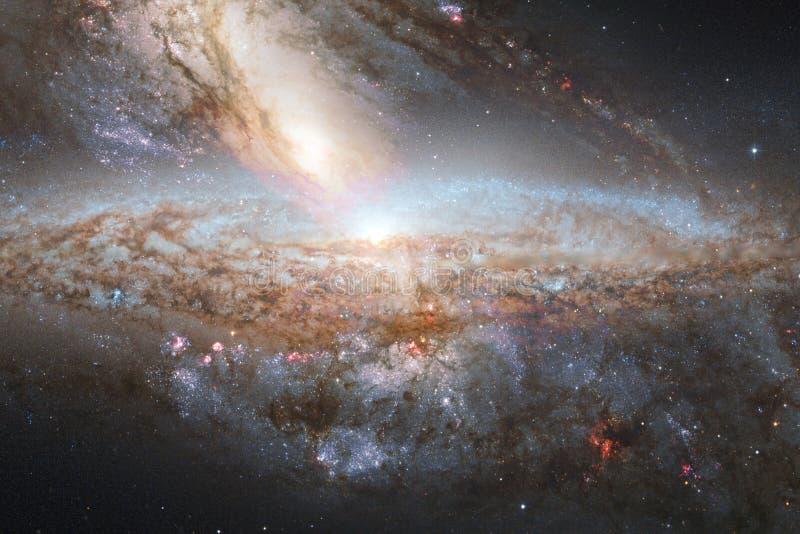 Galassia incredibilmente bella da qualche parte nello spazio profondo Carta da parati della fantascienza illustrazione di stock