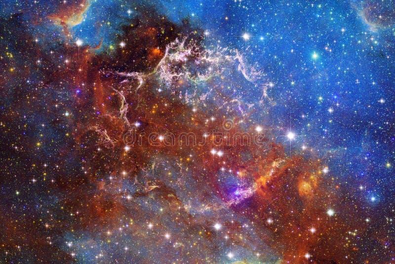 Galassia incredibilmente bella molti anni luci lontano dalla terra illustrazione vettoriale