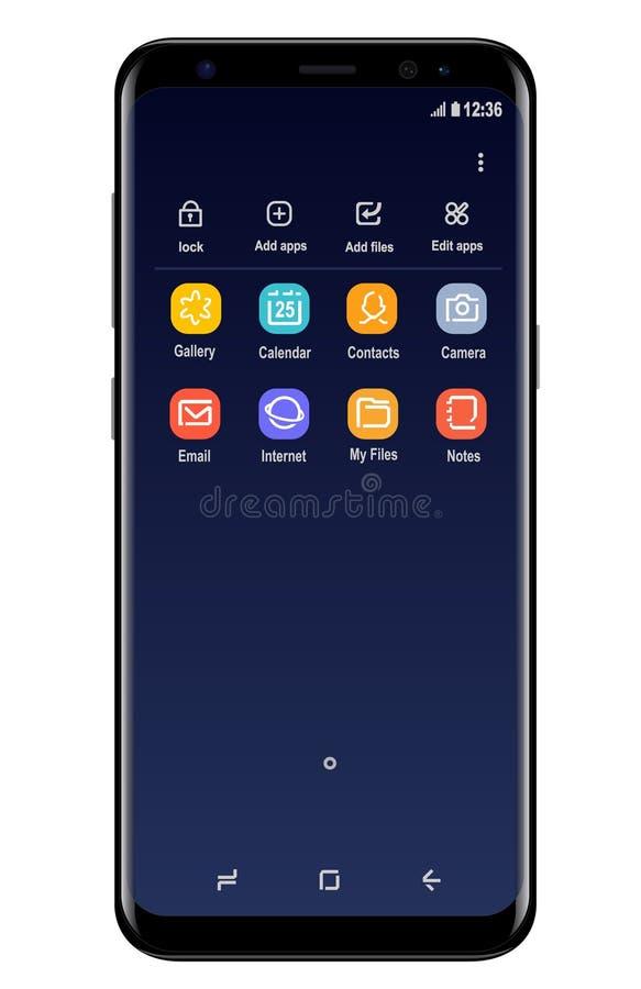 Galassia S8 di Samsung illustrazione di stock
