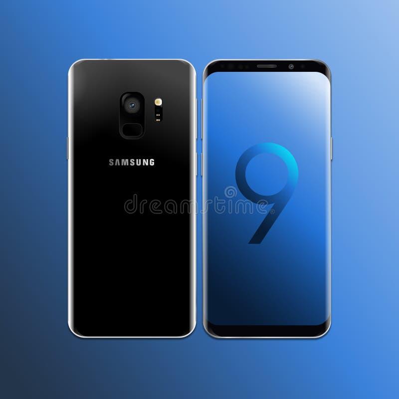 Galassia s9 di Samsung di vettore fotografia stock libera da diritti