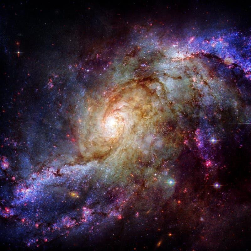 Galassia a spirale incredibilmente bella nello spazio cosmico immagine stock