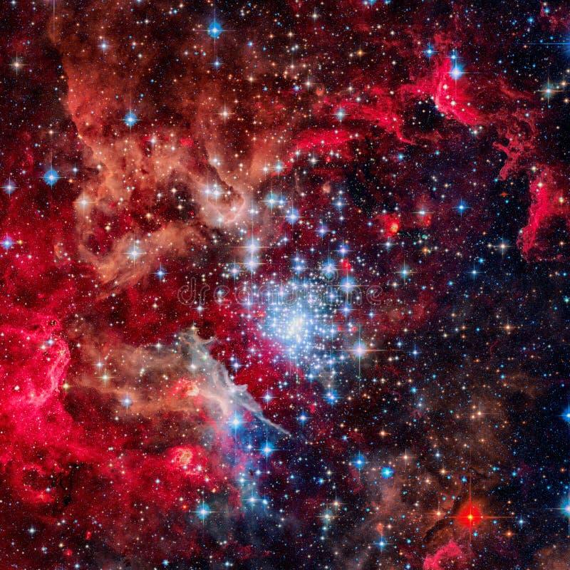 Galassia a spirale incredibilmente bella nello spazio profondo immagini stock