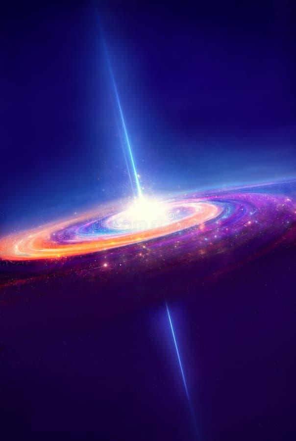 Galassia a spirale luminosa fotografia stock
