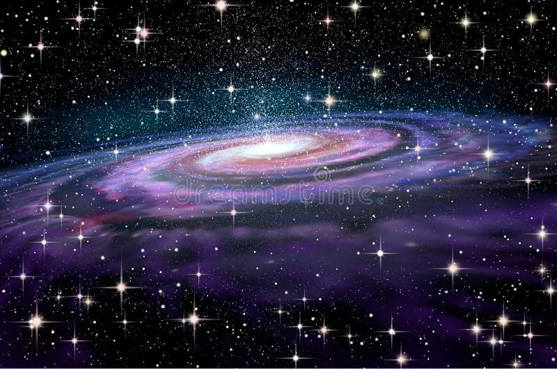 Galassia a spirale in spcae profondi royalty illustrazione gratis