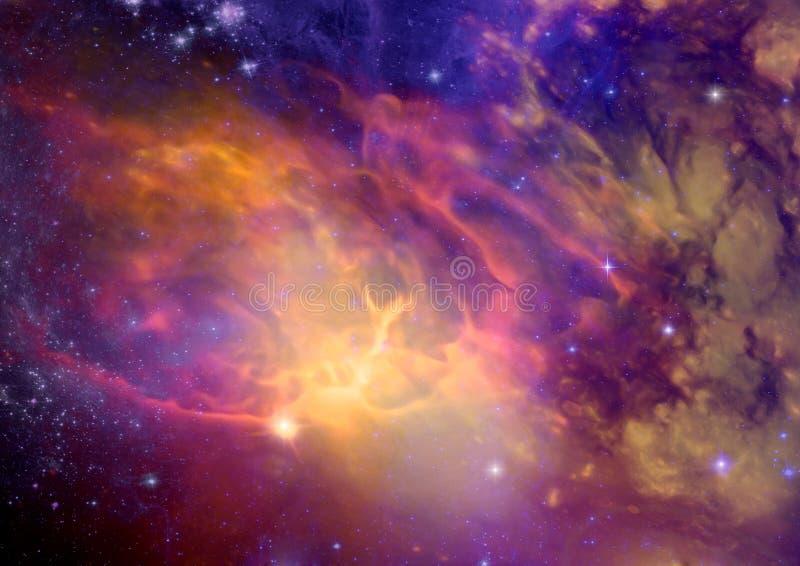 Galassia in uno spazio libero illustrazione di stock
