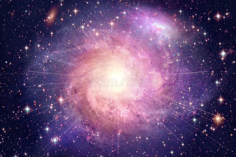 Galassia variopinta d'ardore della nebulosa dell'estratto artistico nel materiale illustrativo dello spazio profondo fotografie stock libere da diritti