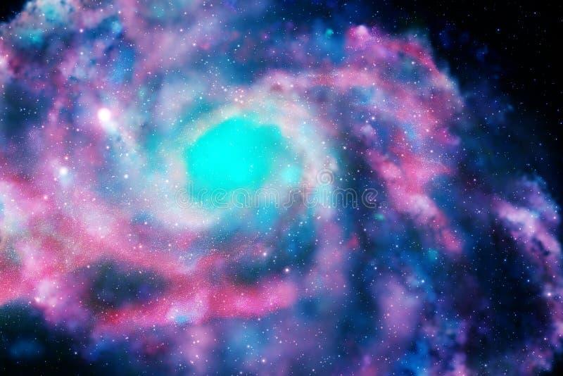 Galassia variopinta nello spazio illustrazione vettoriale
