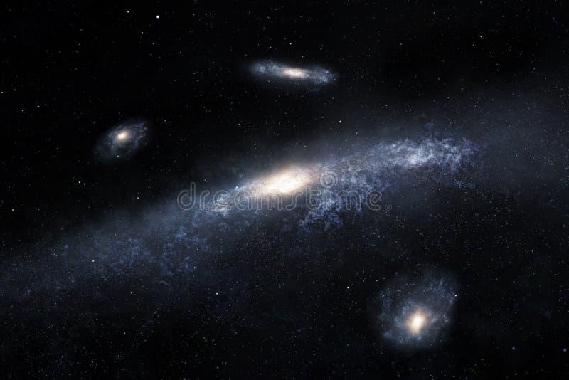 Galassie a spirale distanti illustrazione di stock