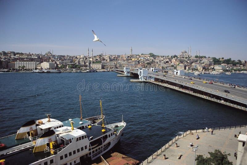 Galata. Bridge of galata, istanbul, turkiye royalty free stock image