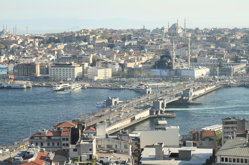 Galata Bridge in Istanbul stock photos