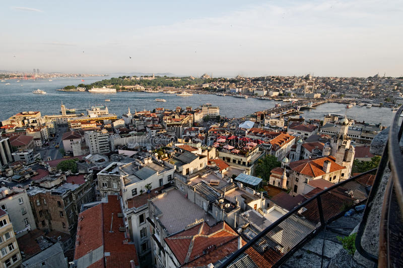 Galata bridge over Golden Horn stock photos