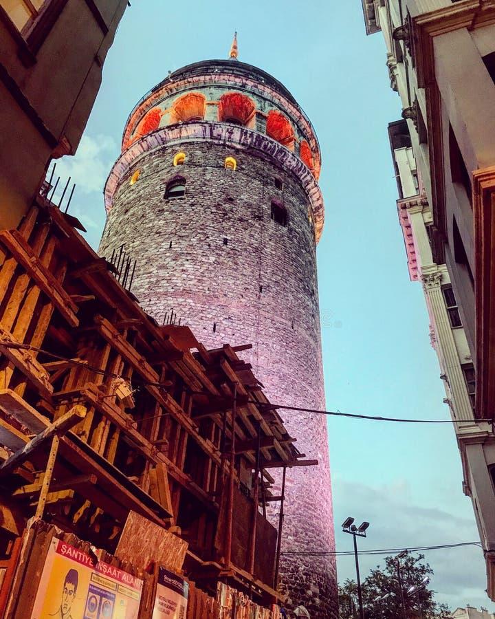 伊斯坦布尔galata塔 库存照片