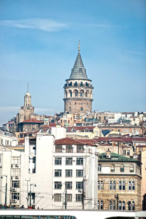 Galata Kontrollturm, die Türkei. lizenzfreies stockbild