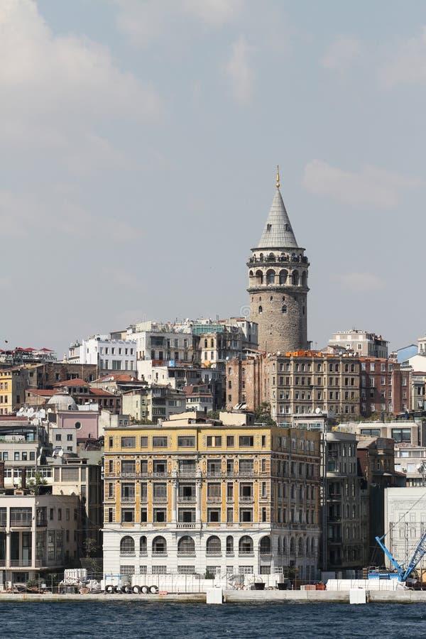 Galata Kontrollturm in Istanbul stockbild