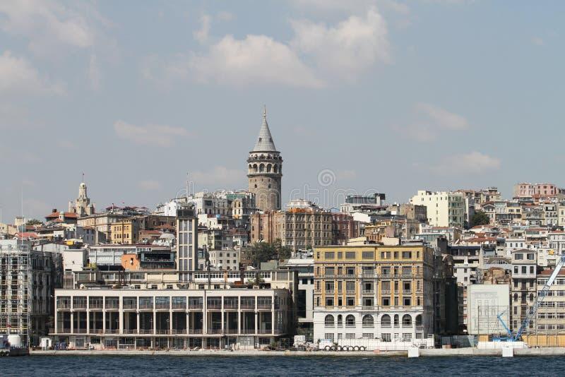 Galata Kontrollturm in Istanbul lizenzfreies stockfoto