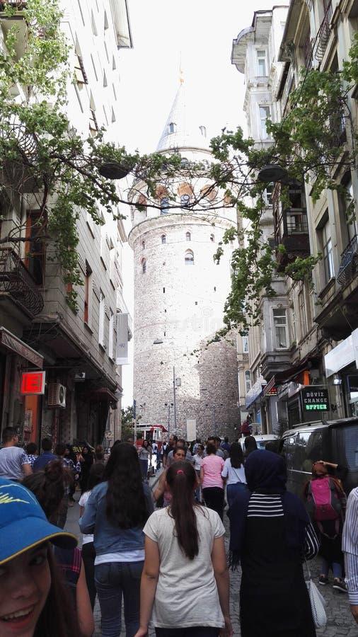 Galata Kulesi royaltyfria bilder