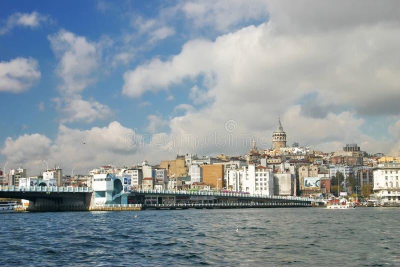 Galata most i galata wierza w Istanbuł obraz stock