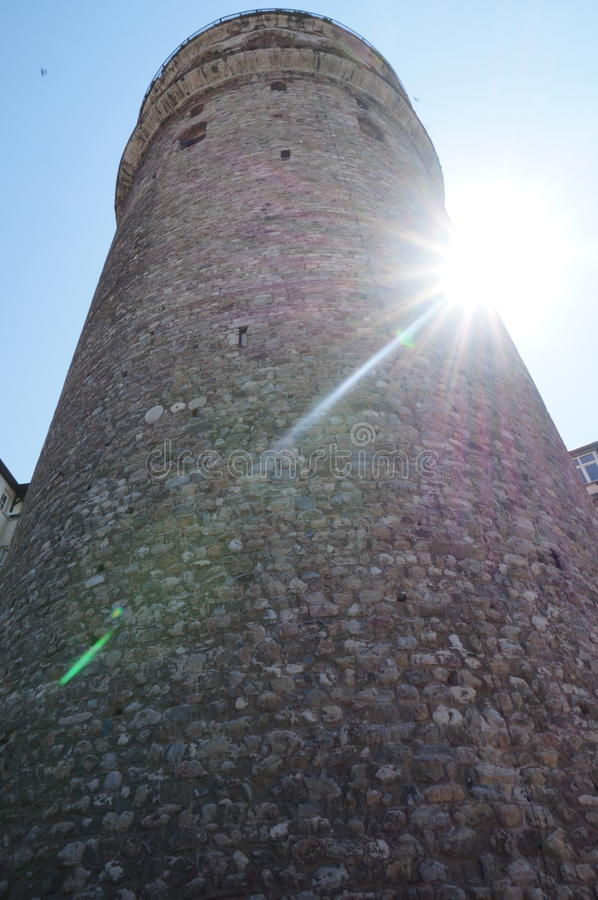 Galata torn royaltyfria bilder