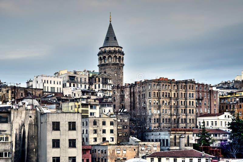 Galata torn i Ä°stanbul arkivbild