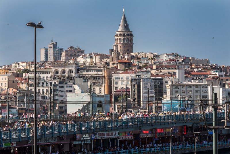 Galata torn Istanbul royaltyfria bilder