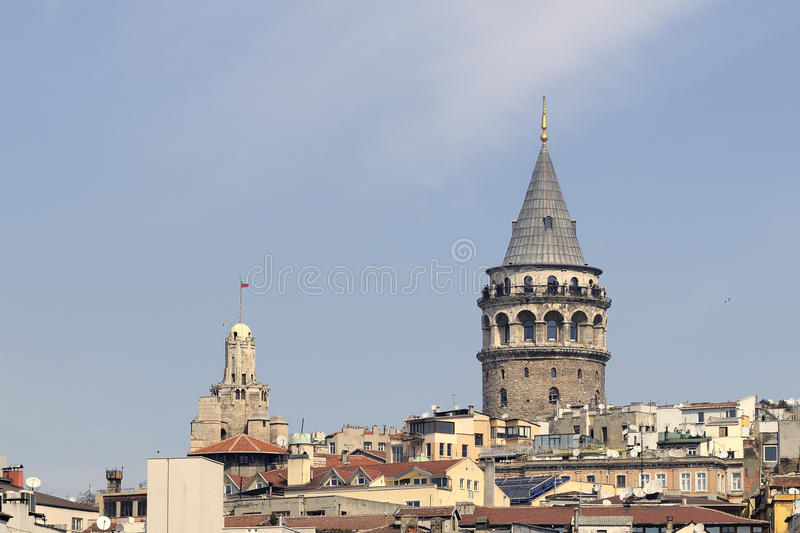 Galata tower. In istanbul, turkey stock images