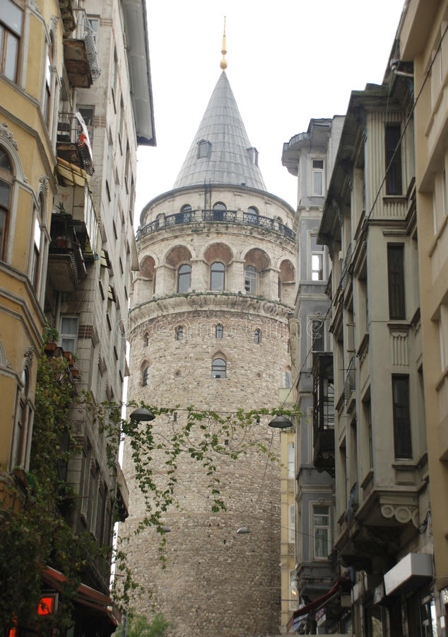 Galata tower. To Ä°stanbul Turkey royalty free stock photography