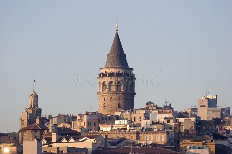 Galata Tower. (Christa Turris) in Istabul Turkey stock photography