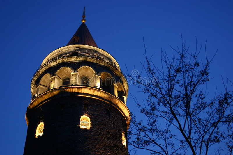 Galata tower. Istanbul. architectural and historical building royalty free stock photos