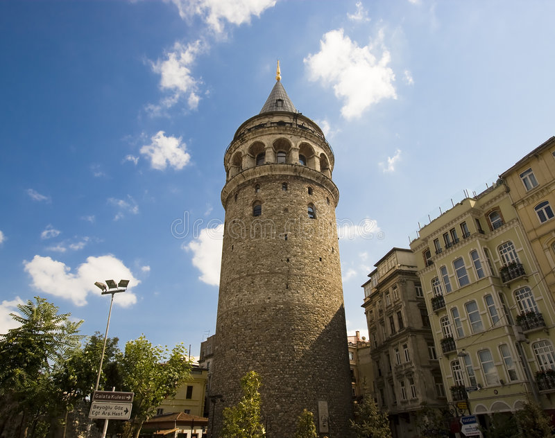 Galata Tower. Famous Galata Tower in Istanbul Turkey royalty free stock image