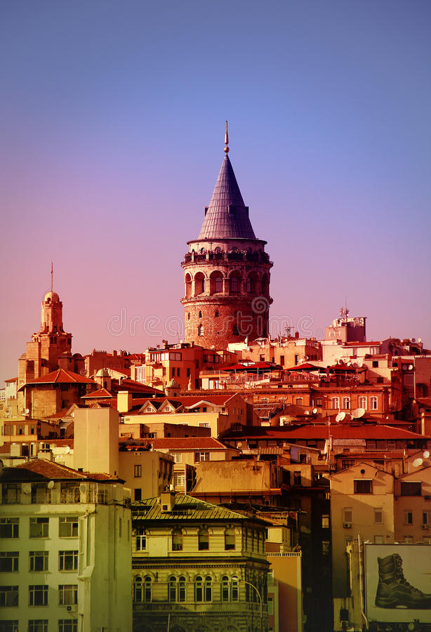 Galata Tower beyoglu stock photo