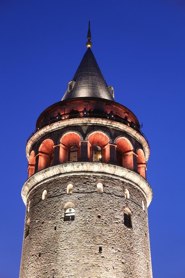 Galata Tower in Beyoglu. Istanbul City, Turkey royalty free stock images